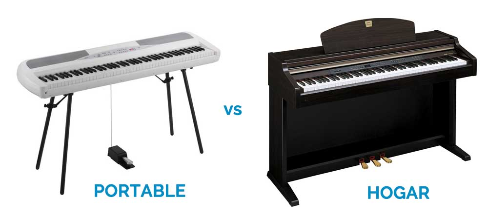 piano portable vs hogar