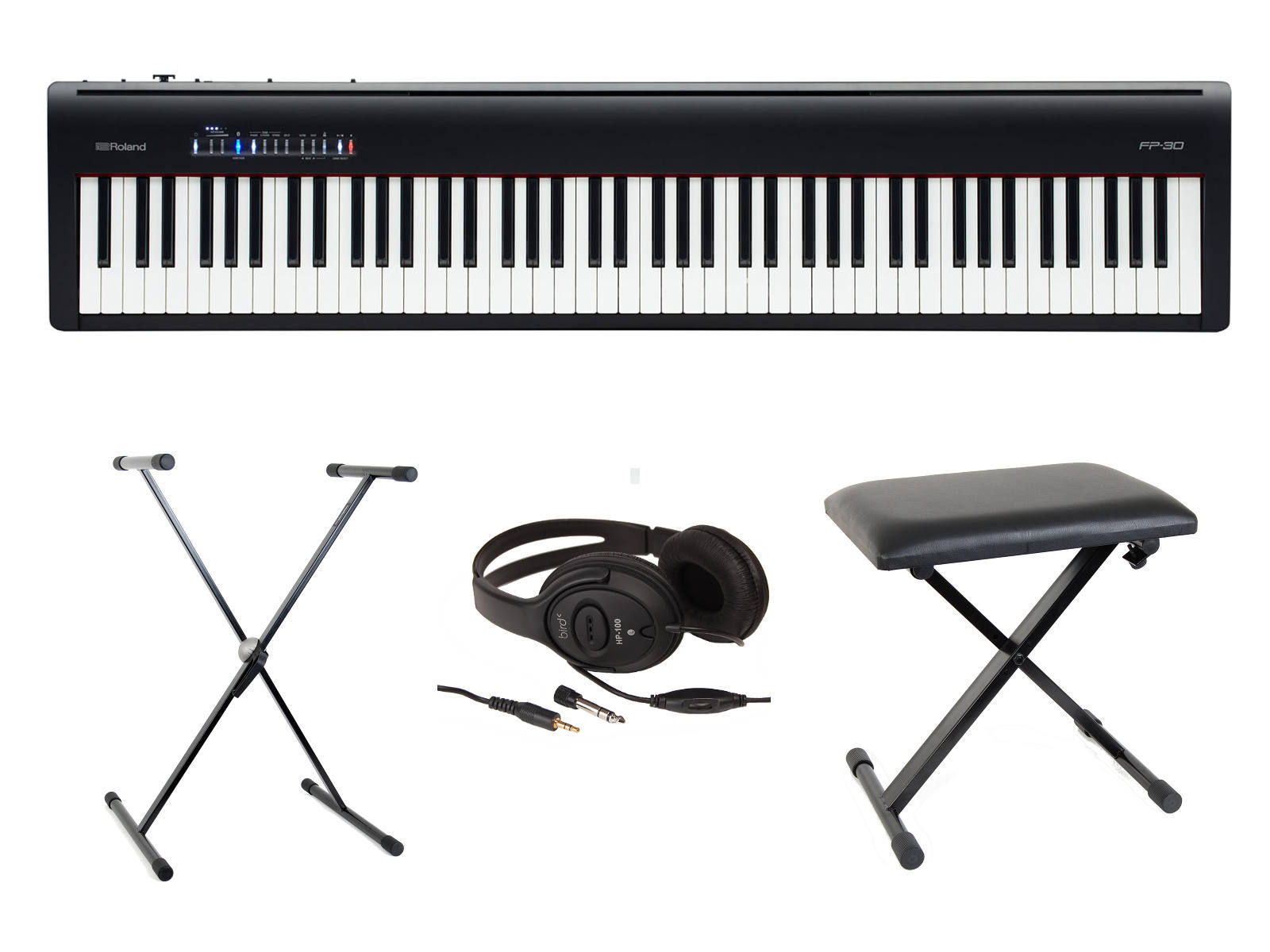 roland digital piano fp30 pack basico negro