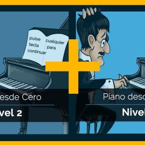 Piano desde Cero – Pack Nivel 2 y 3